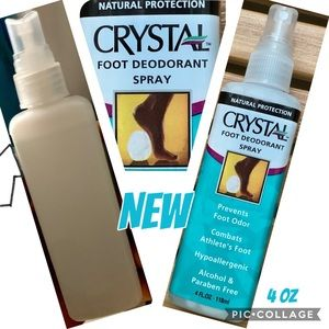 CRYSTAL Foot Deodorant Spray Natural Protection 🆕